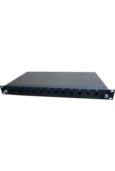 """Cabex 12 Port Lc Fiber Optik Patch Panel Boş 19"""" 1U"""