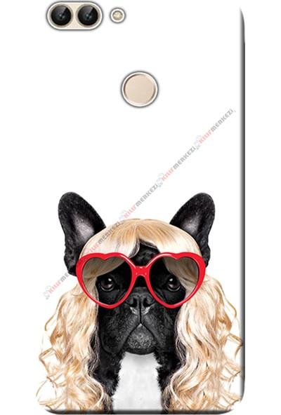 Kılıf Merkezi Huawei Honor 9 Lite Kılıf LLD-L31 Silikon Baskılı Peruklu Köpek STK:464