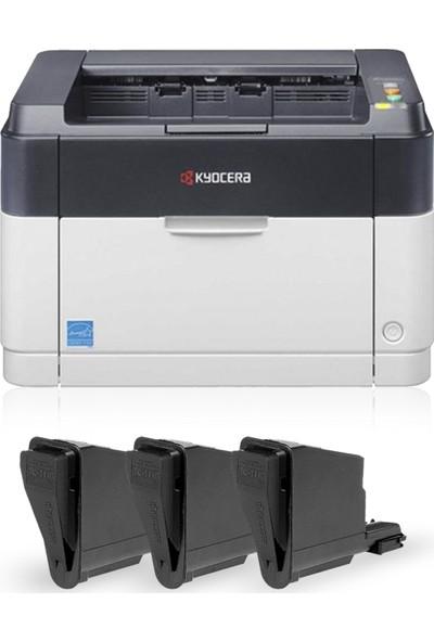 Kyocera Fs 1060Dn 3 Adet Muadil+ 1 Adet (10.000 Sayfalık Toner) Laser Yazıcı