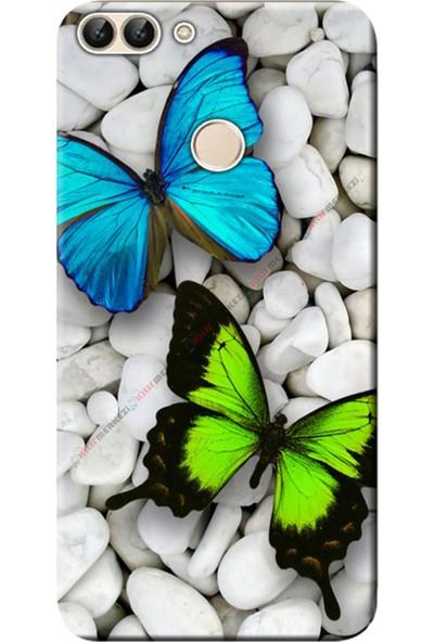 Kılıf Merkezi Huawei Honor 9 Lite Kılıf LLD-L31 Silikon Baskılı Kelebekler STK:148