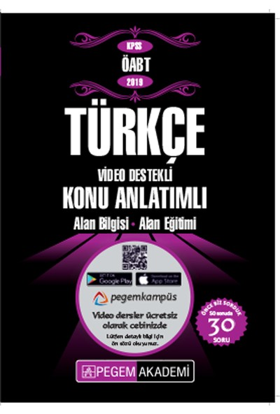 Pegem Akademi 2019 KPSS ÖABT Türkçe Video Destekli Konu Anlatımlı
