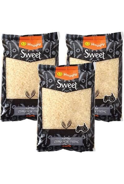 Happy Sweet Osmancık Pirinç 1 kg x 3 Lü