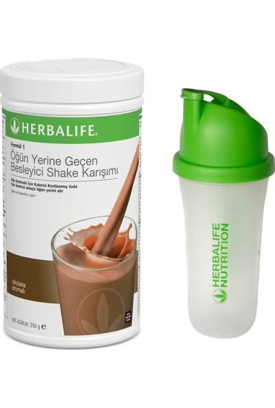Herbalife Çikolatalı Shake 550G + Shaker