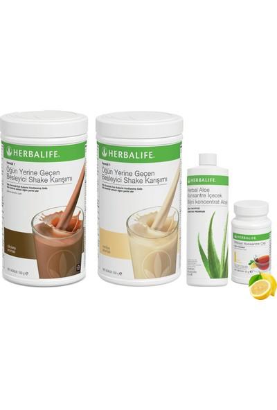 Herbalife Shake Karışımı 1 Vanilya 1 Çikolata Aloe Vera 1 Limon Çay