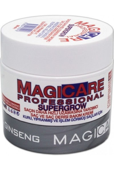 Magicare Supergrow Saç Ve Saç Derisi Bakım Kremi (Kuru, Yıpranmış Ve İşlem Görmüş Saçlar İçin) 200 ml