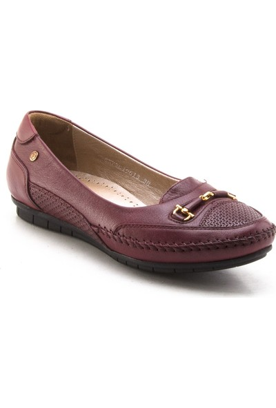 Forelli 19613 Bordo Kadın Babet Günlük Ayakkabı