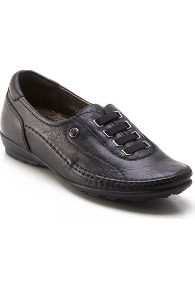 Forelli 33016 Siyah Kadın Deri Ayakkabı