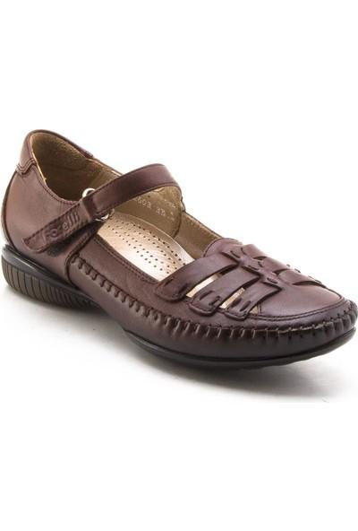 Forelli 2603 Kahverengi Kadın Babet Ayakkabı