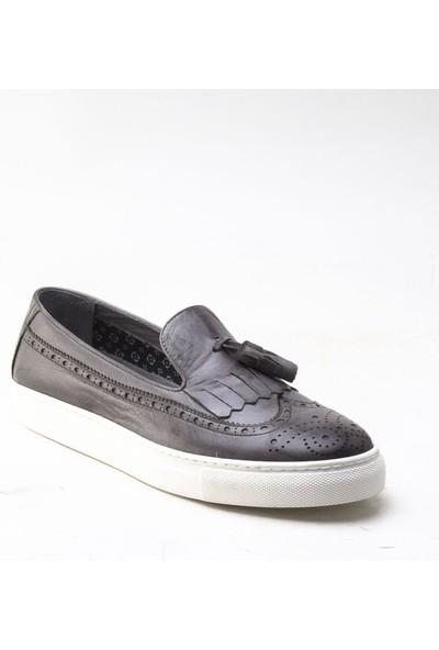 Yeşil Kundura 2454 Gri Erkek Sneaker