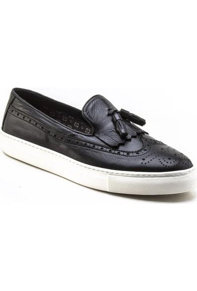 Yeşil Kundura 2454 Siyah Erkek Sneaker