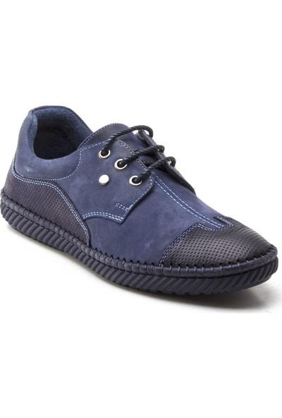 Yeşil Kundura 65808 Kot Mavi Erkek Sneaker