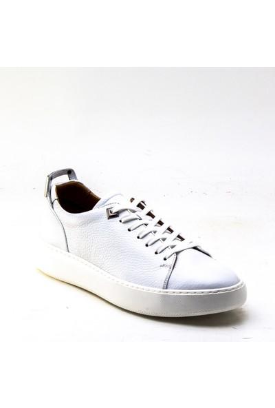 Yeşil Kundura 2468 Beyaz Erkek Sneaker