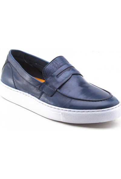 Yeşil Kundura 100309 Mavi Erkek Ayakkabı