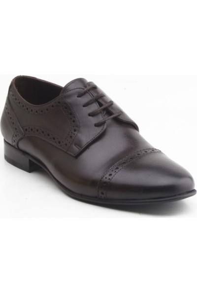 Depos 113 Erkek Klasik Bağçıklı Ayakkabı Kahverengi