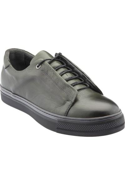 Yeşil Kundura O12 9633 Deri Erkek Ayakkabı Yeşil