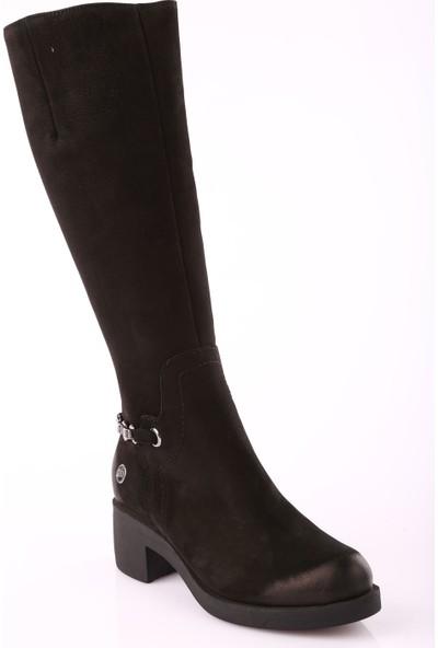 Mamma Mia D18Kc-2040 Kadın Ayakkabı Çizme Siyah Rlks Nbk