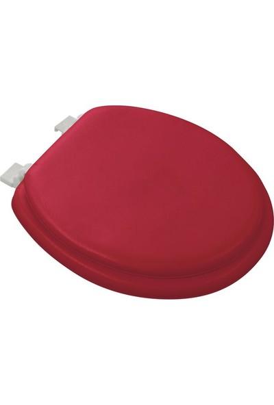 Softy Classic Süngerli Klozet Kapağı Düz Kırmızı