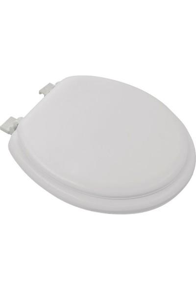 Softy Classic Süngerli Klozet Kapağı Düz Beyaz