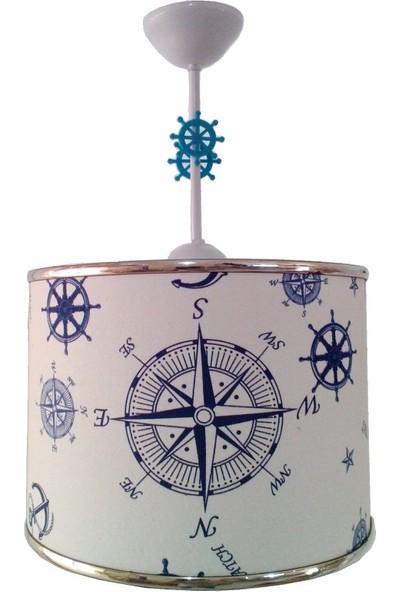 Ege Light Pusulalı Denizci 1144 Çocuk Odası Genç Ve Bebek Odası Avize Aydınlatma Tekli Sarkıt