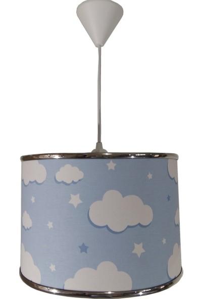 Ege Light Mavi Bulutlu 2222 Çocuk Odası Genç Ve Bebek Odası Avize Aydınlatma Sarkıt Abajur