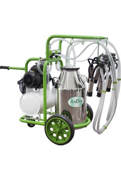 Arden Çift Sağım - Tek Güğümlü - Paslanmaz Süt Sağım Makinesi
