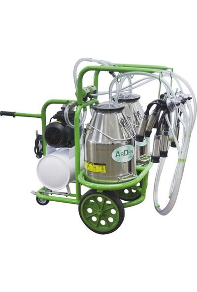 Arden Çift Sağım - Çift Güğümlü - Paslanmaz Süt Sağım Makinesi