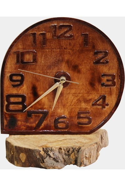 Ahşap Fabrikası Doğal Ahşap Masa Konsol Saati