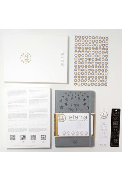 Eternalius Bullet Journal Noktalı Ajanda - Gri (A5) Ebad - Elegance Paket