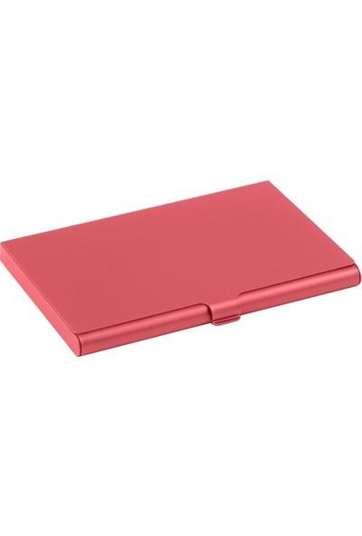 Vendas İnce Alüminyum Alaşımlı Kartvizitlik - Kırmızı