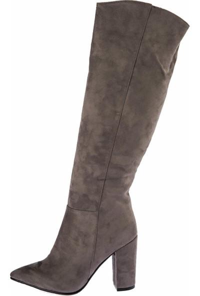 Fox Shoes Gri Kadın Çizme E922911502