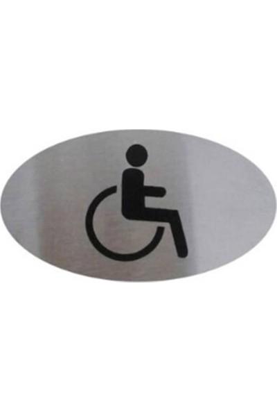 Engelli WC Yönlendirme Levhası Paslanmaz Çelik