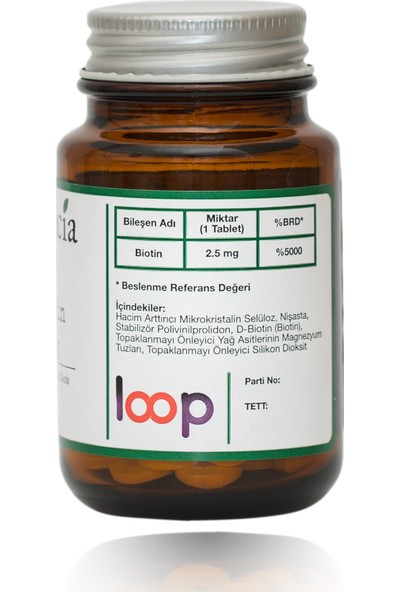 Byopecia Biotin 2.5Mg 60 Tablet (Saç Dökülmesi, Ve Tırnaklar İçin)