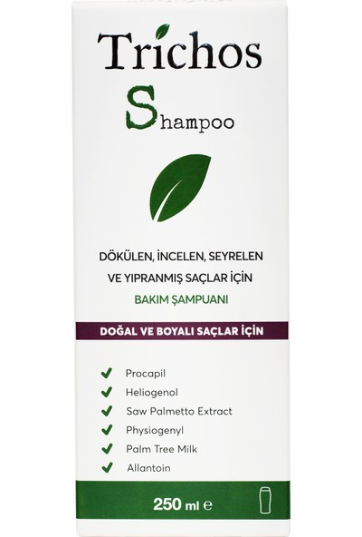 Trichos Shampoo 250 Ml Bakım Şampuanı (Saç Dökülmesi İçin)