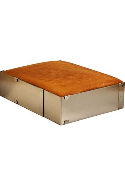 Cesil Ayarlanabilir Çelik Kare Kek Pasta Kalıbı H7 x 20-40