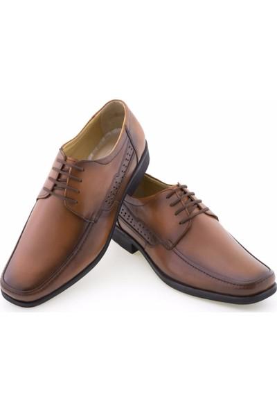 Özcoşkun Taba Burnu Dikişli Bağcıklı Klasik Erkek Ayakkabı