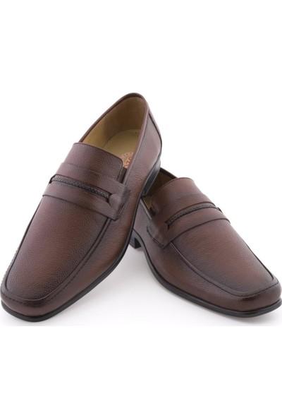Özcoşkun Taba Baskılı Deri Saç Örgü Kuşaklı Klasik Erkek Ayakkabı