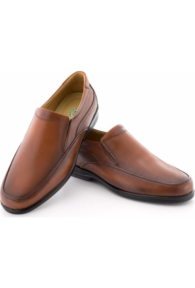 Özcoşkun Taba Burnu Dikişli Klasik Model Lastikli Erkek Ayakkabı
