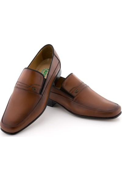 Özcoşkun Taba Burnu Dikişli Tokalı Lastikli Klasik Erkek Ayakkabı