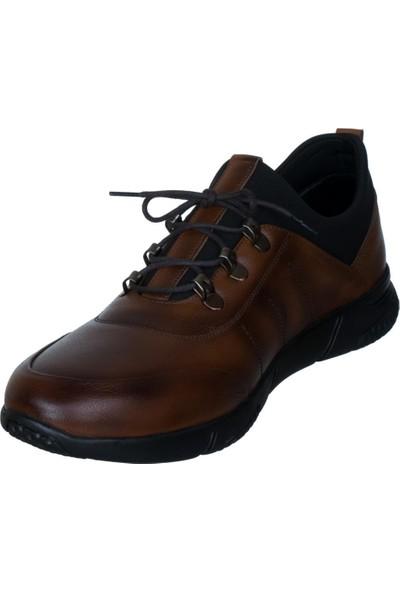Libano Taba Kahverengi Dikiş Motifli Neoprenli Bağcıklı Erkek Ayakkabı