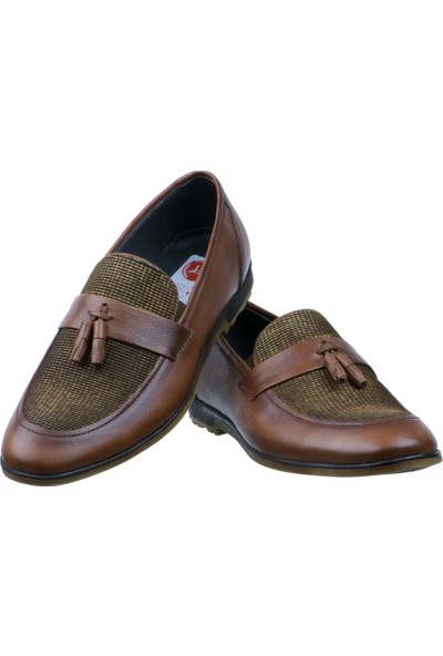 Libano Taba Hasırlı Püsküllü Klasik Erkek Ayakkabı