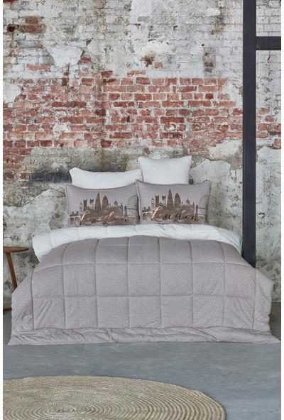 Karaca Home Londra Bej Çift Kişilik Cotton Comfort Uyku Seti