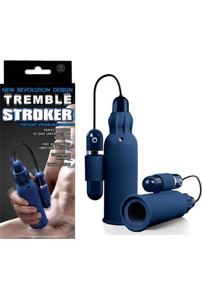 Tremble Stroker Titreşi mli Modern Mastürbatör - Mavi