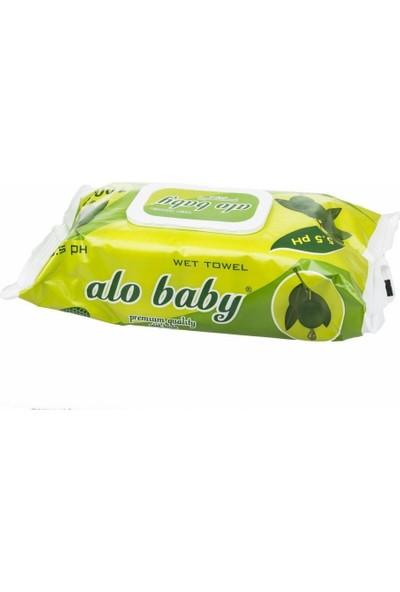 Alo Baby Zeytinli Islak Temizleme Mendili 102 Adet