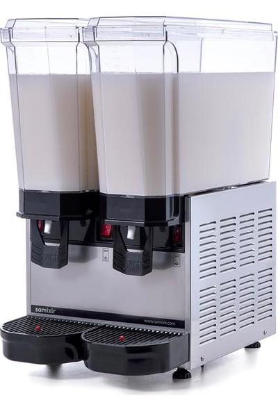 Samixir Klasik Twin Soğuk İçecek Dispenseri, 20+20 L, Karıştırıcılı, Inox
