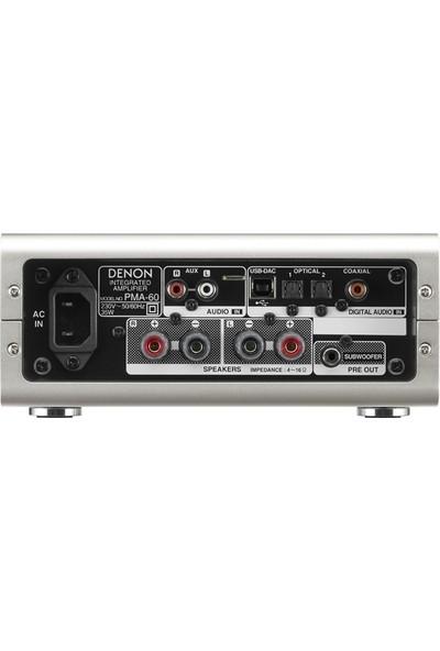 Denon PMA-60 Gümüş Entegre Stereo Amfi