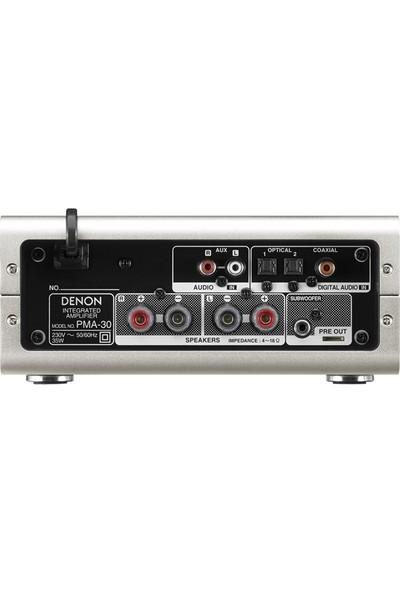Denon PMA-30 Gümüş Entegre Stereo Amfi