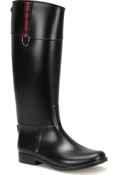 Igor W10143 Carla Hebilla-002 Siyah Kadın Yağmur Çizmesi