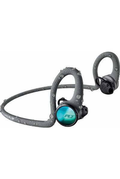 Plantronics Backbeat FIT 2100 Ter/Su Geçirmez Kablosuz Spor Kulaklık Gri