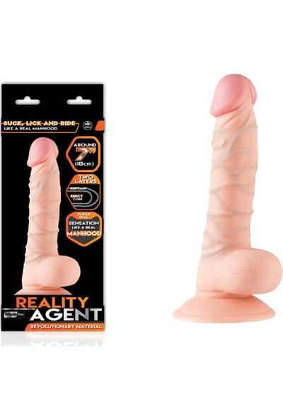 Reality Agent Çift Dokulu 18 cm Dildo