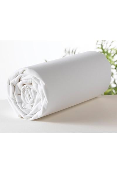 Maki Beyaz 160X200 Çift Kişilik Lastikli Çarşaf Ve 2 Yastık Kılıfı